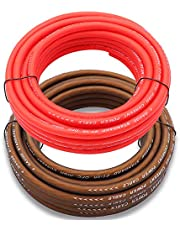 Welugnal 4 Gauge 26ft Black and 26ft Red Power/Ground Wire True Spec and Soft Touch Cable for Car Amplifier Automotive Trailer Harness Wiring