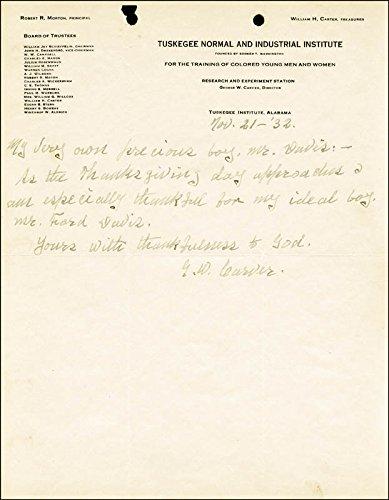 George Washington Carver Autograph Letter Signed 11/21/1932