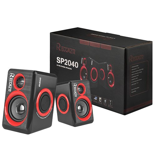 Surround Computer Speakers With Deep Bass USB Wired Powered Multimedia Speaker for PC/Laptops/Smart Phone RECCAZR Built-in Four Loudspeaker Diaphragm by RECCAZR (Image #8)'