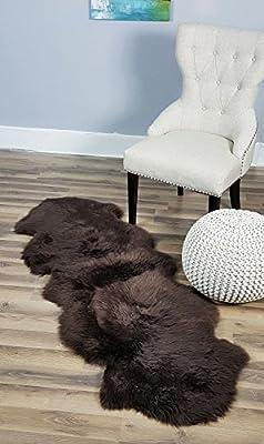 Genuine Australian Sheepskin Rug Two Pelt Fur, Double