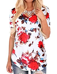 Womens Casual Curved Hem Long Sleeve T Shirt V Neck Side Slit Blouse