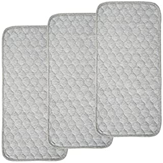 BlueSnail Bamboo Quilted Thicker Waterproof Changing Pad Liners, 3 Count (Gray)