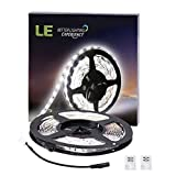 LE 16.4ft LED Flexible Light Strip - 300 Units SMD 2835 LEDs - 12V DC Non-waterproof - Light Strips - LED ribbon - DIY Christmas Holiday Home Kitchen Car Bar Indoor Party Decoration (Daylight White)