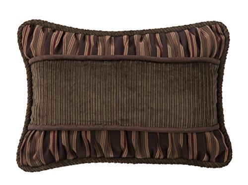 HiEnd Accents Corduroy with Rouching Details Pillow Corduroy Accents