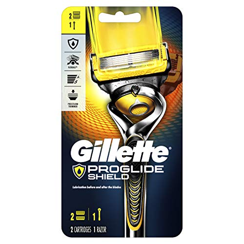 Gillette Fusion5 ProShield Men's Razor with 2 Razor Blade Refills, Mens Fusion Razors/Blades (Packaging May Vary)