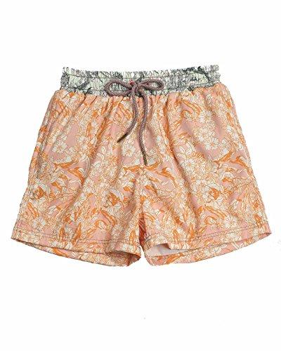 Maaji Little Boys' Sporty Shorts Swimsuit, Orange, 4-6
