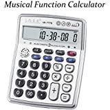 AR-7778 Musical Function Calculator, Portable 12-Digits LCD Display Calculator with Alarm Clock and Voice Reading and Mini Instrument Functions (Chinese Mandarin) (AR-7778)