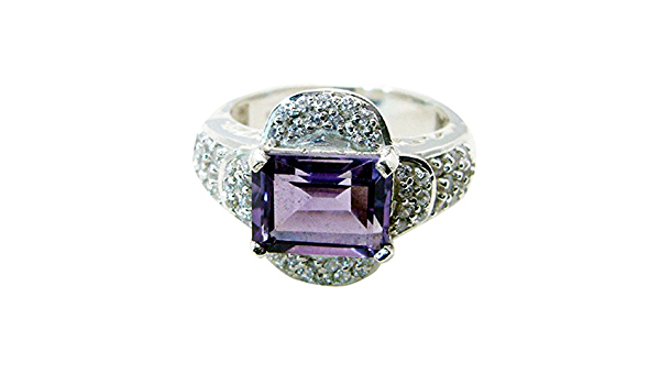 ring chunky silver ring women size 51 RING Silver 925 round CaBOCHON AMETHYST swe size 51 February ring Amethyst ring