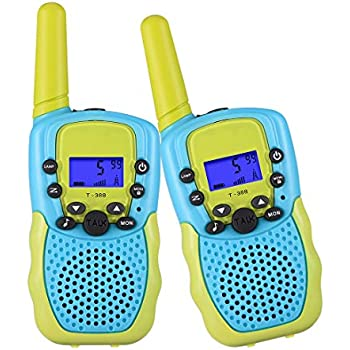 8 Channels Flashlight /& Call Alert Kidzlane Voice Changing Walkie Talkies for Kids 2 Mile Range