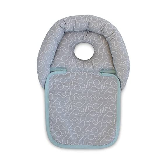 Boppy Noggin Nest Head Support, Elephant Mint, Grey