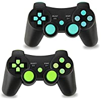 2pcs Pack Wireless Double Vibration Controller for PS3,...