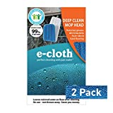 E-Cloth Deep Clean Mop Head - Official - Durable Premium Microfiber Damp Mop Head - Use With Just Water for Chemical-Free Floor Cleaning - 2 pack