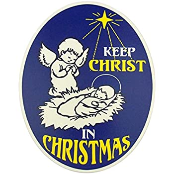 52d6584a480 Keep Christ in Christmas Angel with Jesus 6 Inch Full Color Flexible Car  Magnet