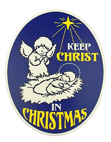Keep Christ in Christmas Angel with Jesus 6 Inch Full Color Flexible Car Magnet Family Stocking Ornaments