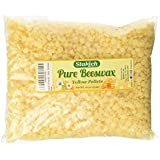 Stakich 1 lb Pure YELLOW BEESWAX Pellets - Cosmetic Grade, Top Quality -