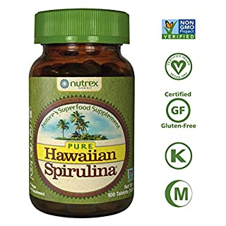 Pure Hawaiian Spirulina-500 mg Tablets 100 Count - Natural Premium Spirulina from Hawaii - Vegan, Non-GMO, Non-Irradiated - Superfood Supplement & Natural Multivitamin (B0039ITKRY) | Amazon price tracker / tracking, Amazon price history charts, Amazon price watches, Amazon price drop alerts