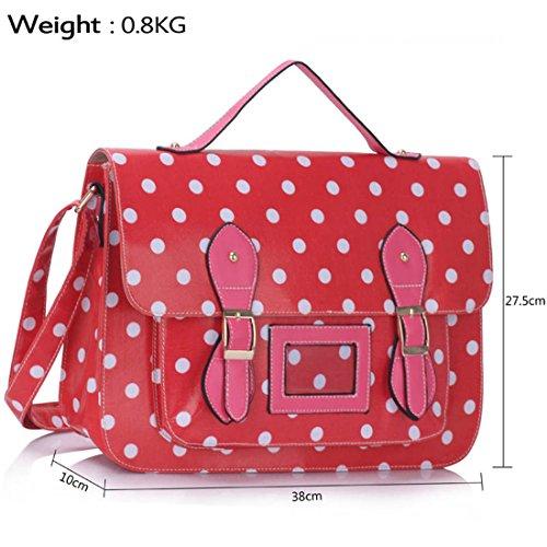 TrendStar - Bolso mochila  para mujer verde P - Green F - Pink