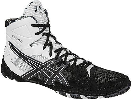 ASICS Men's Cael V7.0 Wrestling Shoe, Black/Onyx/White, 13 M US