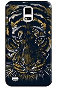 Sangu Tiger Texture Hard Back Shell Case / Cover for Samsung Galaxy S5