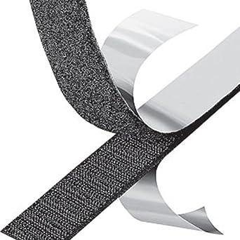 """3M SJA-7501 Hook & Loop Adhesive-Backed Reclosable Fastener, 1.00"""" Wide  x 50 yards, Loop Side, Black"""