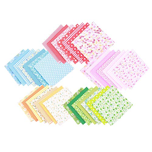 Chris.W 35Pcs Quilting Fabric Squares Sheets, 10