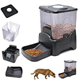 nelson automatic dog waterer - Dog Cat Automatic Programmable LED Display Food Feeder (Black)