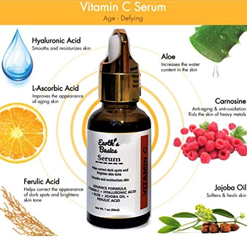 Earth's Vitamin Serum Spot Acid And oz.