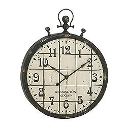 Deco 79 20363 Enticing Metal Wall Clock, 24 W x 30 H