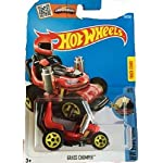 Hot Wheels 2016 HW Ride-Ons Grass Chomper (Ride-On Lawnmower) 69/250, Red