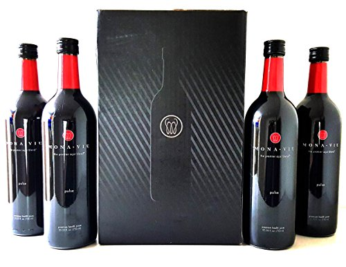 1 Case Monavie Pulse (4 Bottles) Comes Insured Against Breakage by Mona Vie Pulse Juice
