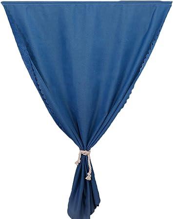 LAAT Cortina Delgada Curtain de Lino y Algodón Decoración Pegar Cortinas Translúcidas Dormitorio Size 100cm*180cm (Azul): Amazon.es: Hogar