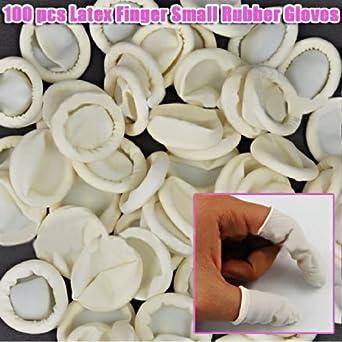 100 Protección de látex dedo uñas pequeñas de goma guantes código: # 550: Amazon.es: Industria, empresas y ciencia