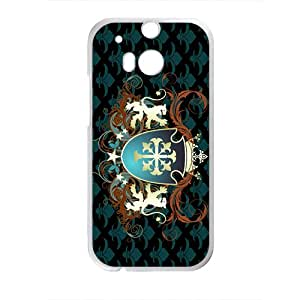 Grid Badge High Quality Custom Protective Phone Case Cove For HTC M8