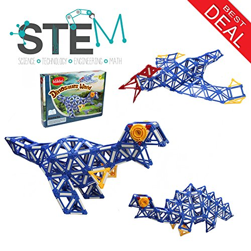Klikko Dinosaur toys Stem Toy for Boys and Girls - 343 pieces - Ages 7 + ,Model Building Set to Learn Creative - Boys Pictures Model