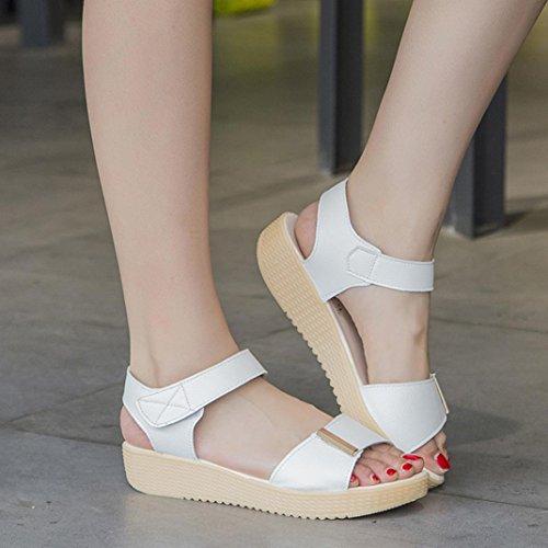 Calzado de mujer,Amlaiworld Zapatos de la playa de las sandalias de las mujeres Blanco