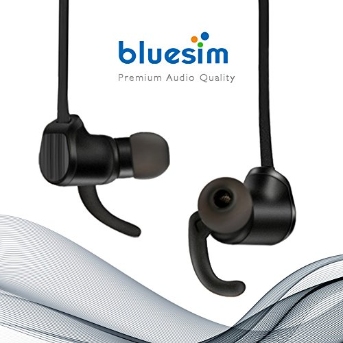 Bluesim Bluetooth Headphones with Microphone - 4.1 Wireless Bluetooth Earbuds for Running, Super Magnetic Neckband Earphones Noise Cancelling Bluetooth Headphones by Bluesim (Image #2)