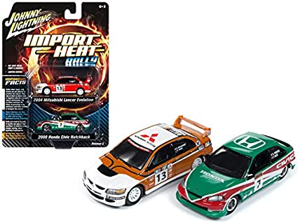 Johnny Lightning 1:64 2004 Mitsubishi Lancer Evolution RALLIART White JLCP7167