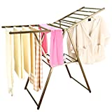 Baoyouni Heavy Duty Clothes Drying Rack Rust-proof Folding Garment Laundry Rack Space Saving for Indoor Outdoor (Bronze)