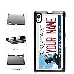Personalized Custom Oklahoma License Plate Plastic Phone Case Back Cover Xperia Z1