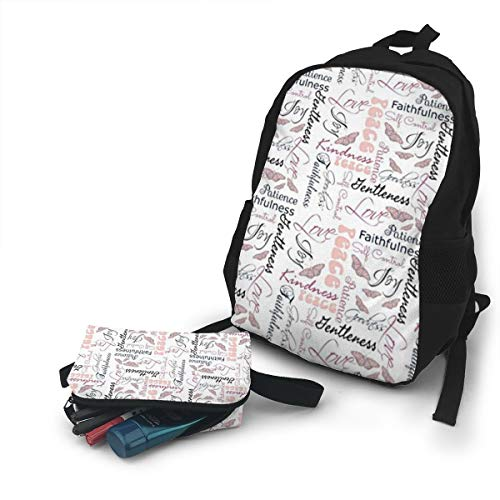 (Jiqnajn6 Christian Fruit of The Spirit Butterflies Laptop Backpack,Travel Computer Bag for Women & Men,Anti Theft Resistant College School Bookbag,Business)