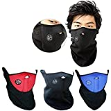 Ezyoutdoor Neoprene Bicycle Motorcycle Snowboard Ski Cycling Half Face Mask with a Cutout for Nose Breathing Neck Warmer for Men and Women