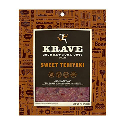 KRAVE Jerky Gourmet Pork Cuts, Grilled Sweet Teriyaki, 2.7 Ounce ()