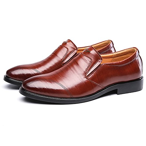 Soft Oxfords Business Jiuyue Pelle Flats vera EU 2018 uomo pelle da shoes Sole Marrone Scarpe 44 Slip on formale in Dimensione Uomo Color traspirante Marrone EqEFrtwOUn