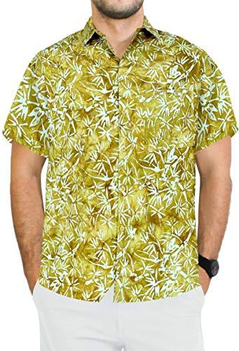 - LA LEELA Cotton Tropical Shirt for Men Front Pocket M| Chest 40