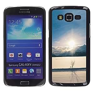 Exotic-Star ( Winter landscape ) Fundas Cover Cubre Hard Case Cover para Samsung Galaxy Grand 2 II / SM-G7102 / SM-G7105