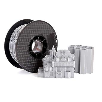Filamento PLA para impresora 3D de metal plateado, 1,75 mm ...