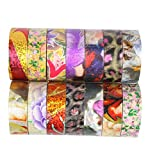 Washi Tape DIY Duct Tapes Decorative Colored Paper tape Set of 12 Mixed Color