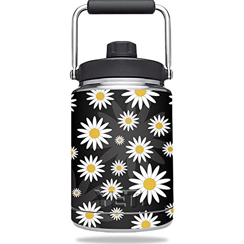Daisy Jug - Skin for YETI Rambler Half Gallon Jug - Daisies | MightySkins Protective, Durable, and Unique Vinyl Decal wrap cover | Easy To Apply, Remove, and Change Styles | Made in the USA