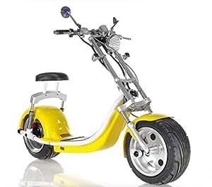 Patinete Eléctrico Amarillo / Scooter Eléctrico / Moto con ...