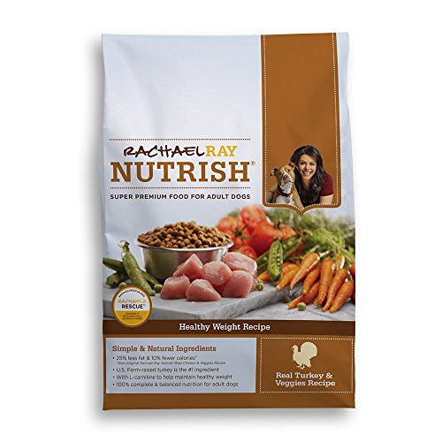 Rachael Ray Nutrish Healthy Weight Natural Dry Dog Food, Turkey & Veggies Recipe, 14 lbs